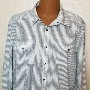 Kenneth Cole New York Mens Striped Shirt Size 2XL